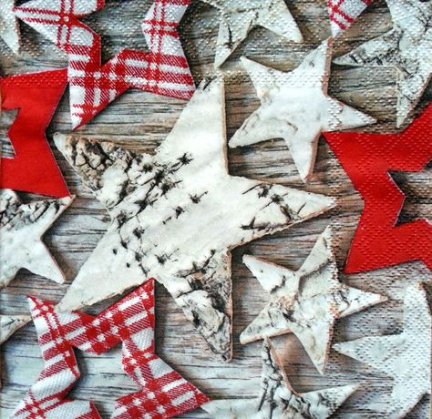for Decoupage Craft STARS 4 x Single Vintage Table Paper Napkins