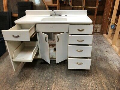 Youngstown Kitchen Cabinets By Mullins Vintage Retro Sink Antique Metal Ebay Metal Sink Kitchen Cabinets For Sale Metal Kitchen Cabinets