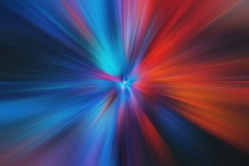 Abstract Multicolored Zoom Effect Background Digitally Generated Image Rays Of Versicolor Light Colorful Radial Blur Abstract Stock Illustration Background