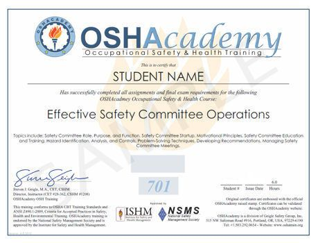 Prestigious Safety Certificate Pdf Download  Certificate