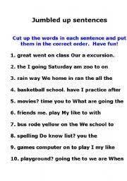 Image Result For Worksheets On Jumbled Sentences For Grade 5 Jumbled Words Unscramble Words Sentences