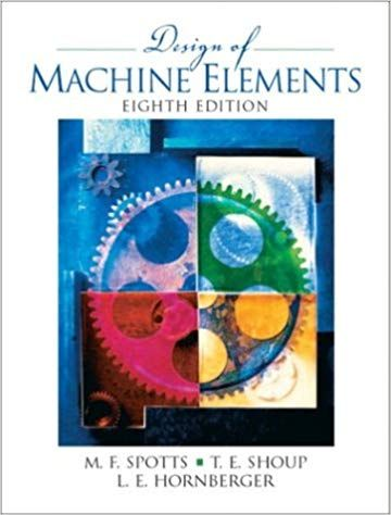 Solution Manual For Title Design Of Machine Elements 8th