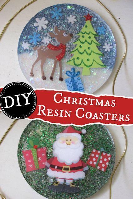Coaster Christmas 2020 Christmas Resin Coasters   Easy Christmas Decor DIY in 2020 | Diy