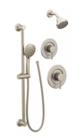 Align Brushed Nickel With Handheld With Images Moen Shower