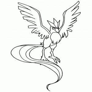 Coloriage Lugia Pokemon Legendaire A Imprimer Et Colorier With