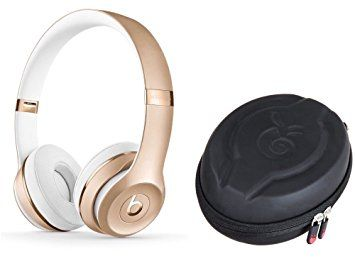 Beats Solo 3 Wireless Headphone And Protective Case Black Gold Stylish Headphone Beats Headphones Wireless Wireless Headphones