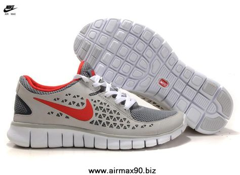 huge inventory look for wholesale online 395912-013 Nike Free Run Mens Gray Red White Free Running Shoes ...
