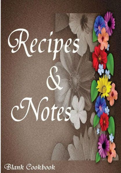 Blank Cookbook Recipe Note 105 Book Series