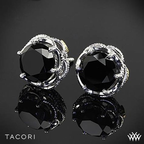 e531320f74824 Sterling Silver with 18k Yellow Gold Accents Tacori SE10519 Black ...