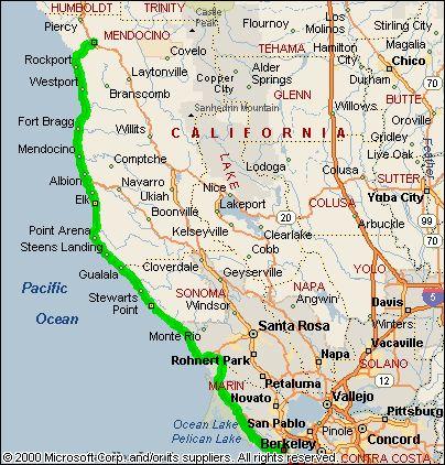 Pacific Coast Highway Road Trip SEAS OCEANS Great Lakes Rivers - Us road map highway 101 california