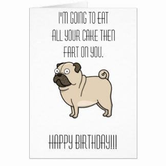 Pug Birthday Card Luxury Pug Cards Greeting Cards Birthday Cards Pugs Cards