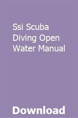 Open water diver manual: scuba schools international, color.