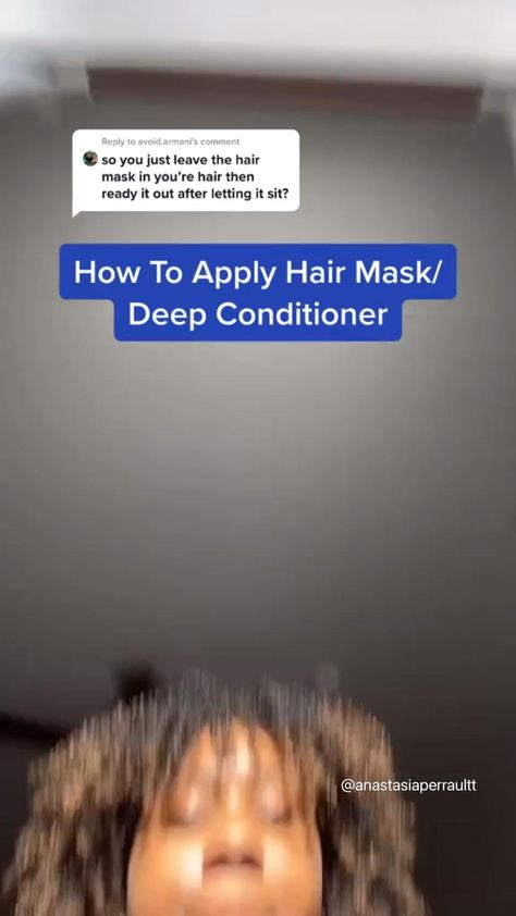 HOW TO APPLY HAIR MASK/DEEP CONDITIONER