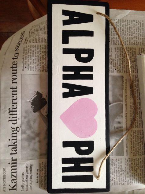 Alpha Phi Brandy Melville sign