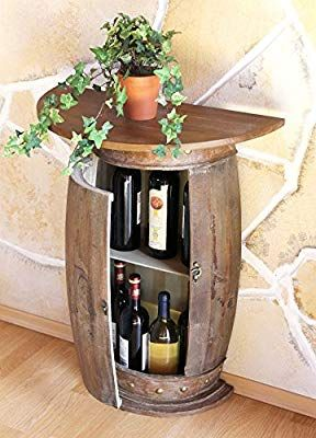 Dandibo Wandtisch Tisch Weinregal Weinfass 0373 R Braun Schrank