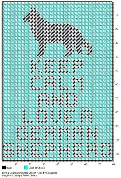 Crochet Patterns GERMAN SHEPHERD GRAPH PATTERN CHART