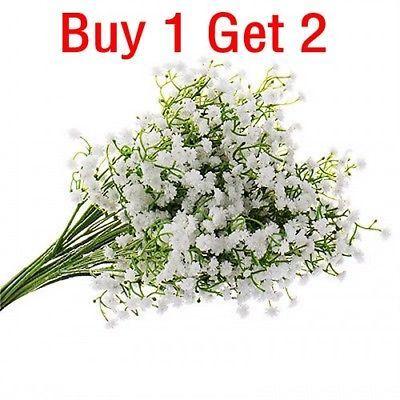 1 Head Romantic Baby/'s Breath Gypsophila Silk Flower Party Wedding Home Décor