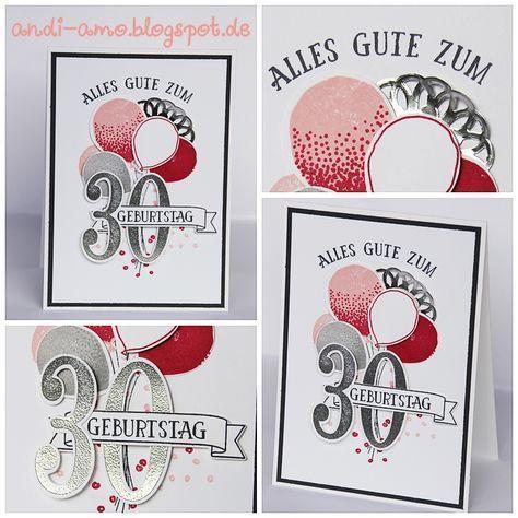 Karte Zum 30 Geburtstag Mit Stampin Up Produktpaketen So Viele