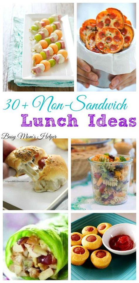 30+ Non-Sandwich Lunch Ideas / by Busy Mom's Helper