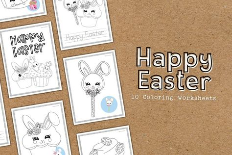 Happy Easter Coloring Educational Worksheets