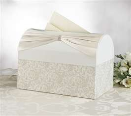 Ivory Sash Card Box On Sale At The Wedding Shoppe Canada