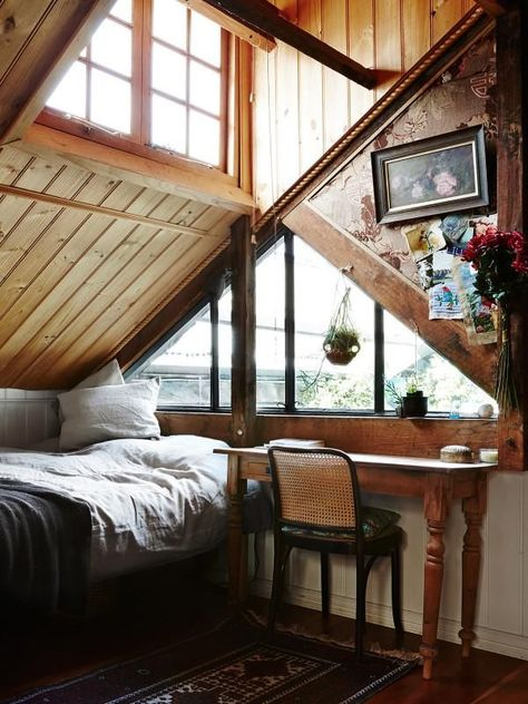 Attic ideas, find inspiration for bedroom ideas storage rooms master DIY to add to your home - small attic bedroom ideas Informations About Inspiring Attic Bedroom Ideas Attic Bedroom Small, Comfy Bedroom, A Frame Bedroom, Attic Bedrooms, Small Attics, Small Rooms, Attic Renovation, Attic Remodel, The Design Files