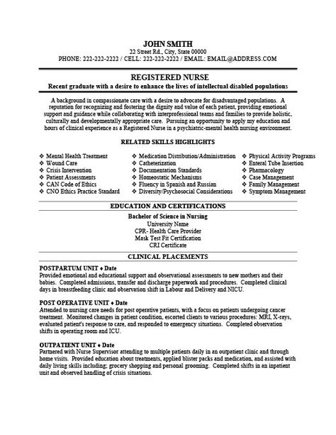 sample new rn resume New Registered Nurse Resume Sample Resume - psych nurse resume