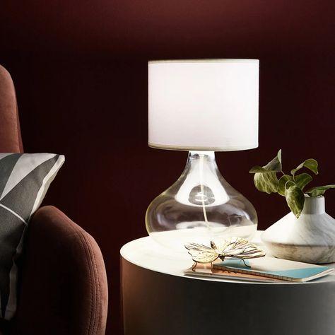 Pied De Lampe Alvarado Acrylique Transparent 23 Cm