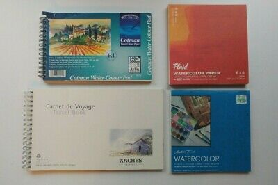 Watercolor Paper Lot 4 Pads Cotman Arches Travel Fluid Master S
