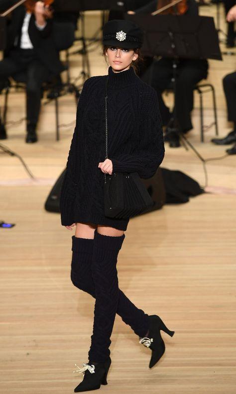 Chanel and Kaia Gerber herald the return of leg warmers - HarpersBAZAARUK