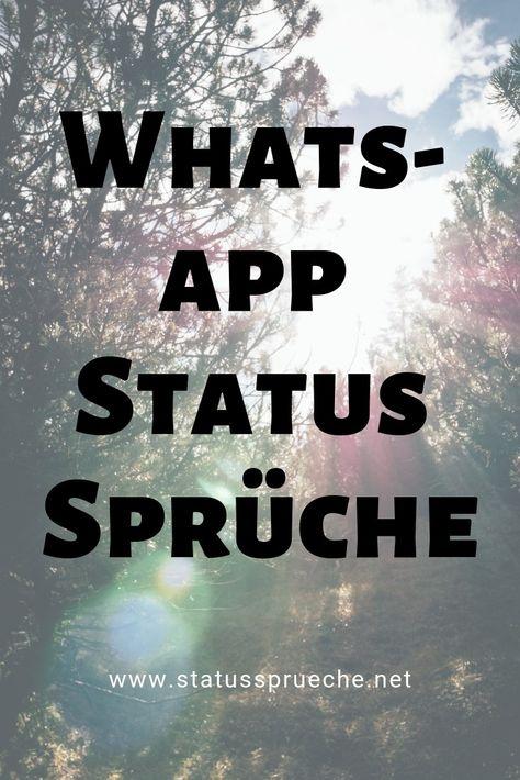 Die Besten WhatsApp Status Sprüche auf einer Seite.