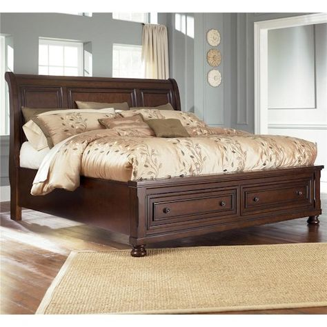 Ashley Furniture Porter Queen Sleigh Bed With Storage Footboard | My Home  Furnishings | Pinterest | Queens, Storage Ideas And Furniture Mattress
