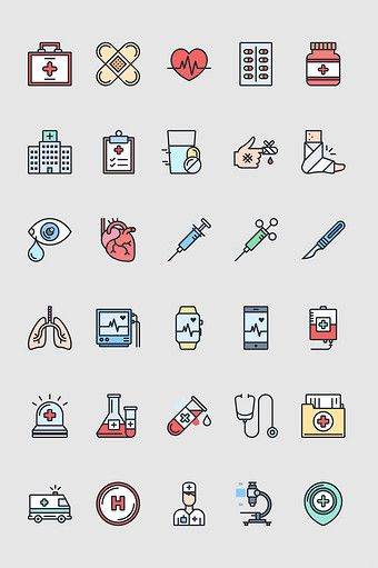 Cartoon Hand Drawn Hospital Medical Equipment Assay Vector สต ก