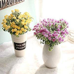 Artificial Flower Imitation Plants Floral Plastic Flower Home Garden Table Decor
