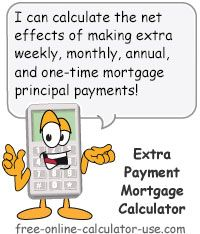 home mortgage calculator with extra payments