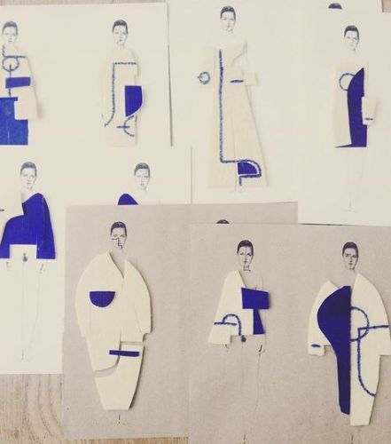 Super Fashion Sketchbook Collage Design Ideas