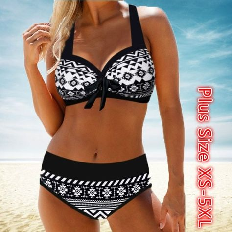 Bowknot Detail Halter Neck Bikini Set Cheap bikini Swimwear online for sale