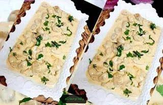 صدر دجاج بالكريمة و الفطر Rice Krispie Treat Creamy Chicken Food