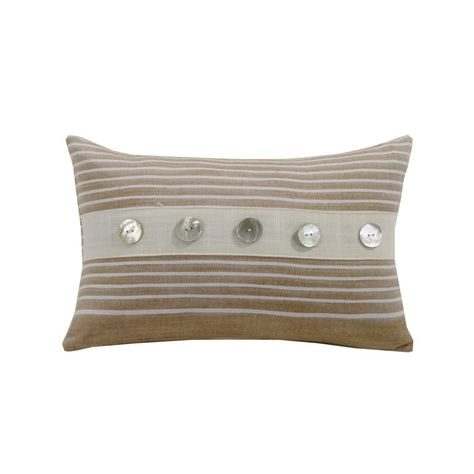 Newport Decorative Shell Button Striped Pillow Master Bedroom Interesting Newport Decorative Two Pack Pillows