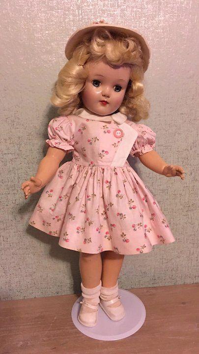 "Beautiful Antique Dress Fits 14-16/"" Lady Doll"