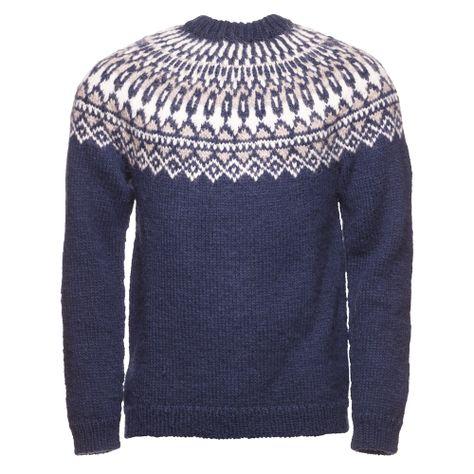 Generic Mens Long Sleeve Print Crewneck Sweater Knit Design Pullover Sweater
