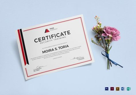 Hospital Training Certificate Template $15 Formats Included - training certificate