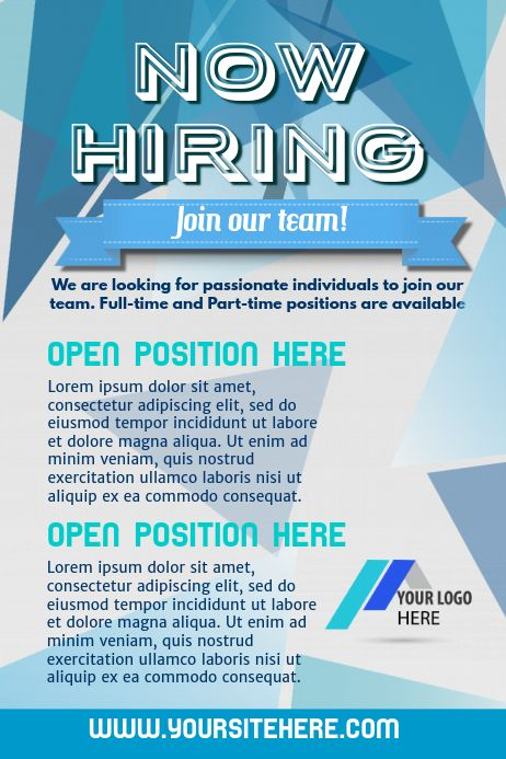 Hiring Poster Template Advertisement Template Job Advertisement Hiring Poster