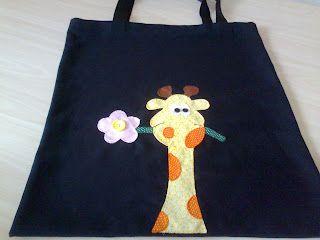 eco bag girafinha