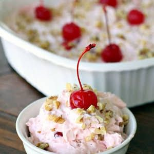 Creamy Cherry Whip Salad With Cream Cheese Sweetened Condensed Milk Cherry Pie Filling Crushed Pineapp Condensed Milk Recipes Best Fruit Salad Fruit Recipes