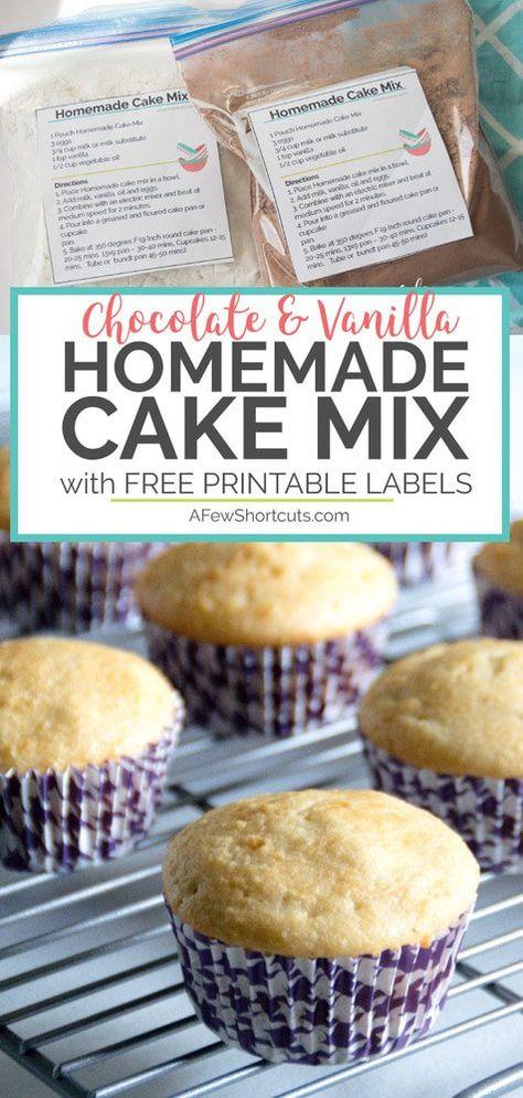 Homemade Chocolate Yellow Cake Mixes Recipe Cake Mix Recipes