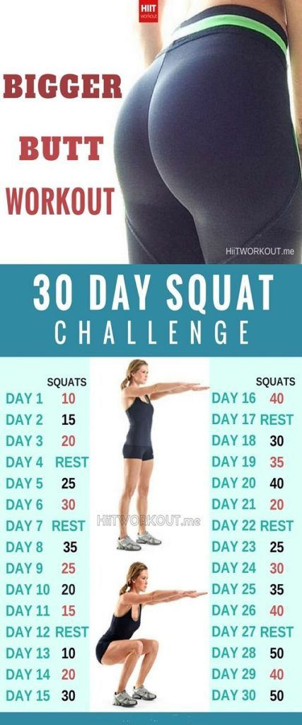 A 30-DAY SQUAT CHALLENGE THAT CAN HELP SCULPT THE BUTT OF
