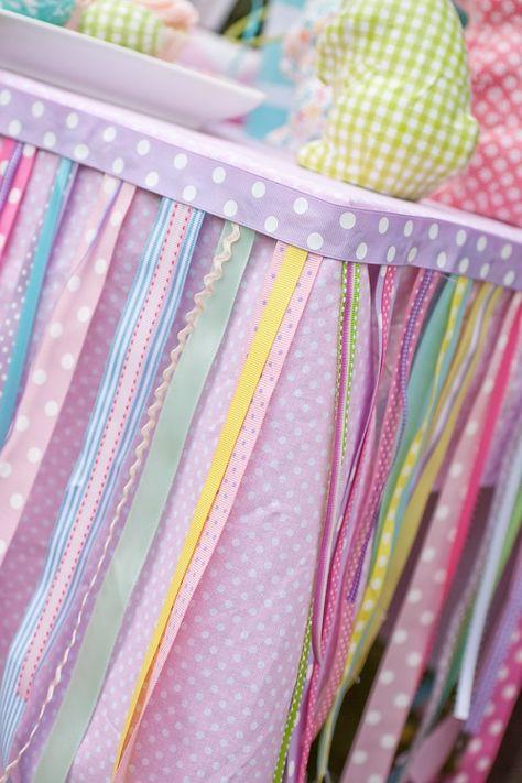 ribbon table skirt