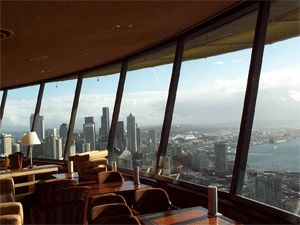 Lucky enough to have lunch at the rotating restaurant in the Space Needle  in Seattle  Awesome views    Favorite Places   Spaces   Pinterest   Seattle    Lucky enough to have lunch at the rotating restaurant in the Space  . Dinner Seattle Space Needle. Home Design Ideas
