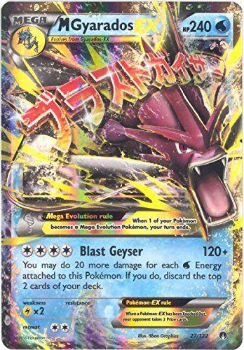 Pokemon Mega Gyarados Ex 27 122 Xy Breakpoint Holo Rare
